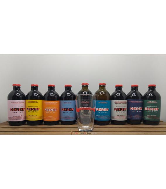 KEREL Brewery Pack (9x33cl) + FREE Kerel Glass