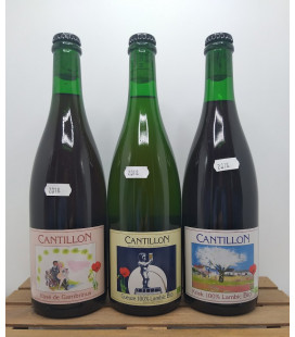 Cantillon 3-Pack (Gueuze-Kriek-Rosé) 2018 75 cl