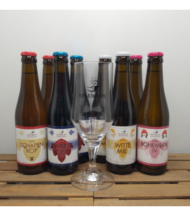 't Paenhuys Brewery Pack (8x33cl) + 't Paenhuys Glass