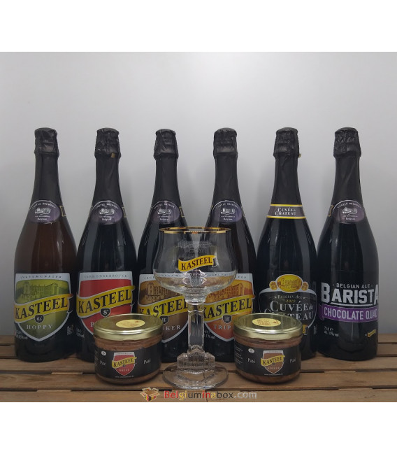 Kasteel Brewery Pack (6x75cl) + 2 Kasteel Paté + Kasteel Glass