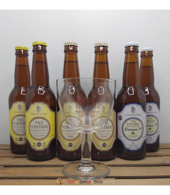 Tre Fontane Brewery Pack (6x33cl) + Tre Fontane Trappist Glass