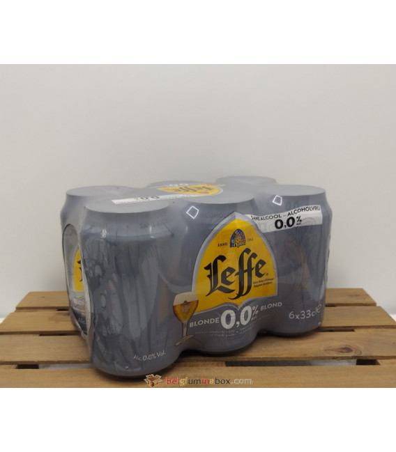 LEFFE Blonde 0.0% 6-Pack (6x33cl) CANS