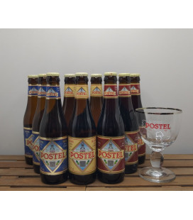 Postel Brewery Pack (9x33cl) + FREE Abbey Postel Glass