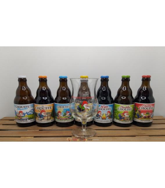 Chouffe Brewery Pack (7x33) + FREE Chouffe Glass