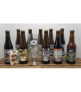 Het Nest Brewery Pack (10x33cl) + FREE Glass + FREE Deck of Cards