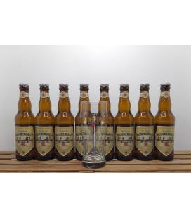 Passchendaele Blond 8-Pack (8x33cl) + FREE Passchendaele Glass