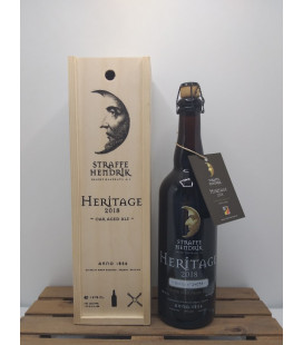 Straffe Hendrik Quadrupel Whisky Oak Aged Heritage 2018 75 cl in Wooden Box