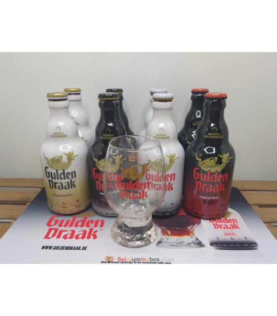 Gulden Draak Brewery Pack (8x33cl) + Gulden Draak Dragon's Egg Glass + FREE Barmat