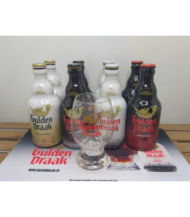 Gulden Draak Brewery Pack (8x33cl) + FREE Gulden Draak Dragon's Egg Glass + FREE Barmat