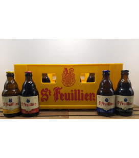 St Feuillien mixed crate (Blonde-Brune-Triple-Quad) 24 x 33 cl