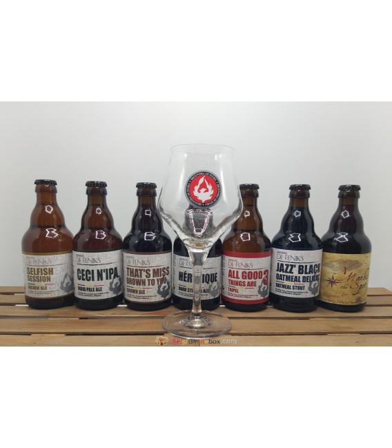 De Feniks Brewery Pack (7x33cl) + FREE De Feniks Glass
