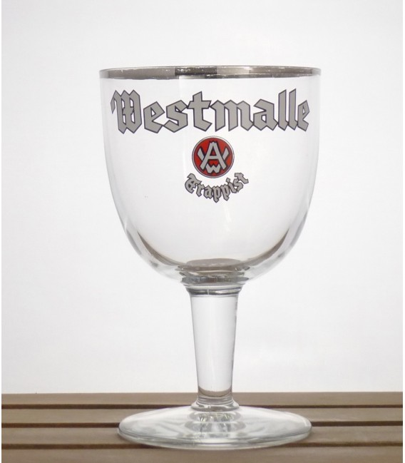 """Westmalle Trappist Glass """"White Lettering"""" 33 cl"""