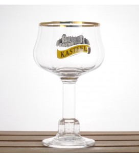 "Kasteelbier Vintage glass ""black/white"" Logo 33cl"