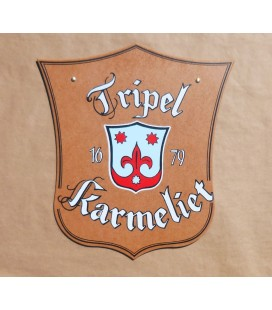Karmeliet Tripel Beer-Sign in Wood