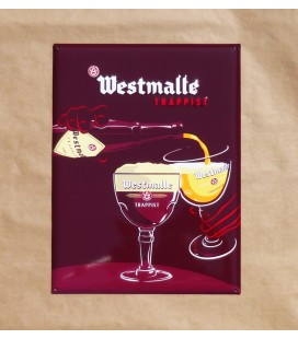 Westmalle Trappist Beer-Sign in Tin-Metal Model 2013
