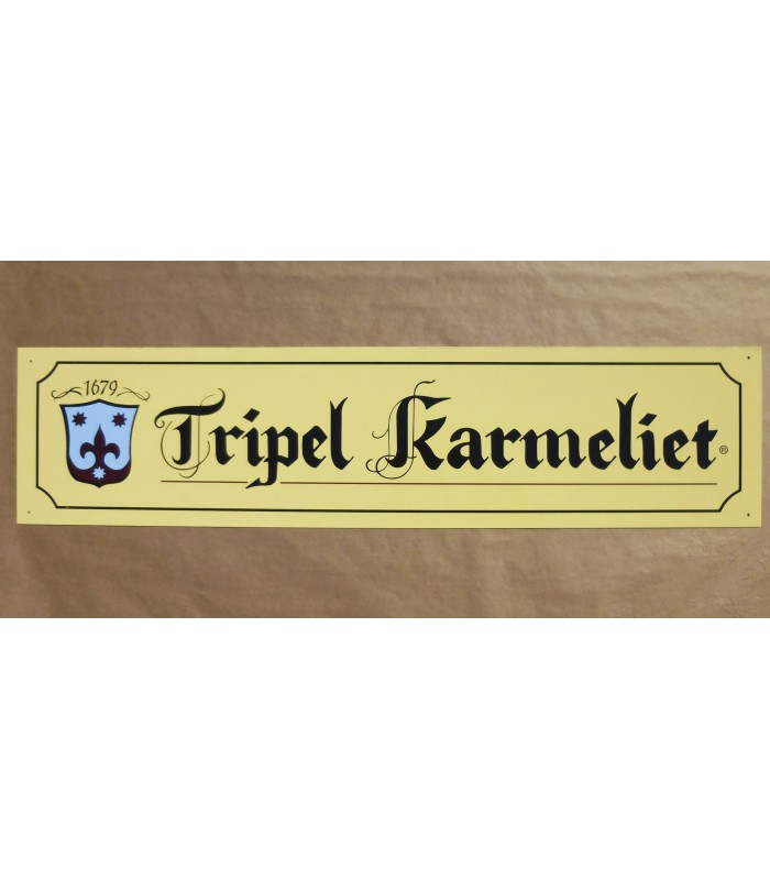Home > Merchandising > Karmeliet Tripel (long) Beer-Sign