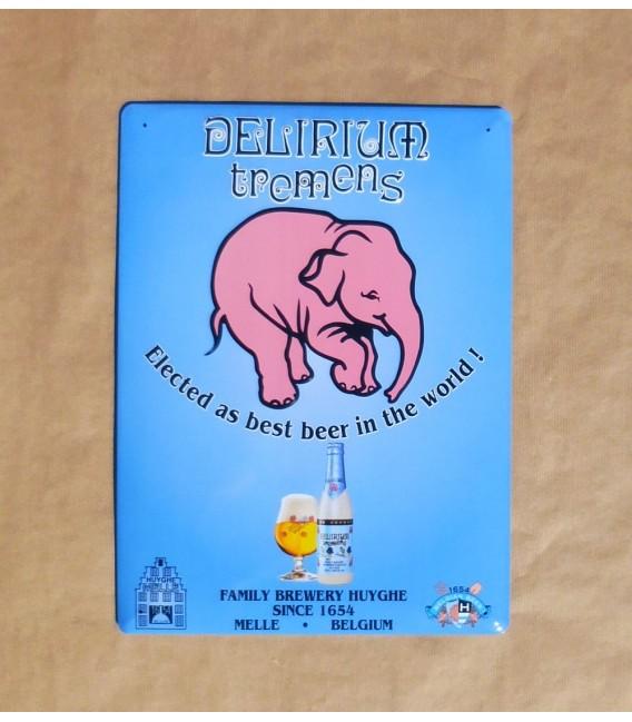 Delirium Tremens Beer-Sign in Tin-Metal