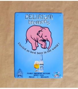 Delirium Tremens Beer Sign in Enamel-Metal