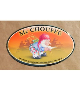 Mc Chouffe beer-sign in tin-metal