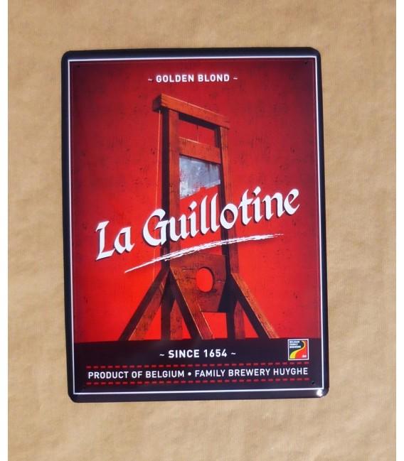 La Guillotine Beer-sign in tin metal