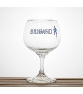 "Brigand ""Bleu lettering"" Glass 25 cl"