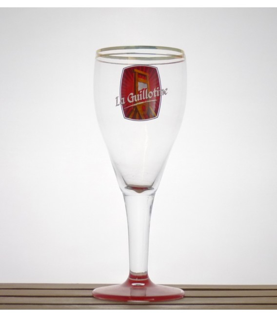 """Huyghe Vintage """"Red"""" La Guillotine glass 33 cl"""