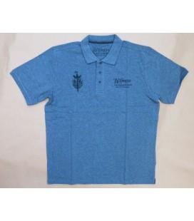 La Trappe T-Poloshirt short sleeve grey size XXL