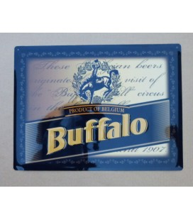 Van Den Bossche Buffalo beer-sign in tin metal