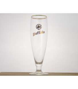 Buffalo (golden rim) Glass 33 cl