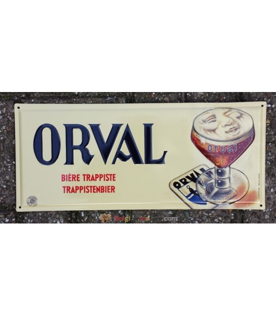 Orval beer-sign in tin metal