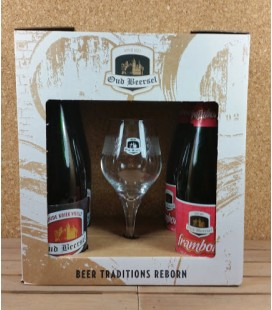 Oud Beersel Oude Kriek/Framboos Giftbox + Fruit-Lambic Glass
