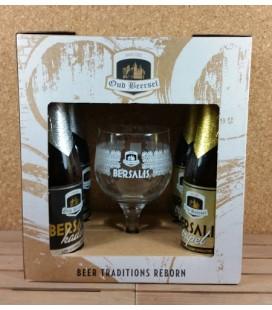 Oud Beersel Bersalis Kadet/ Tripel Giftbox with Bersalis Glass.