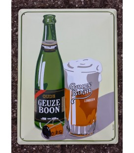Boon Oude Geuze Beer-Sign in Tin-Metal