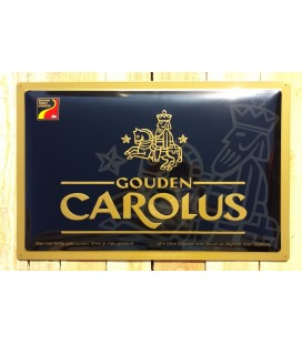 Gouden Carolus Beer-Sign in Tin-Metal