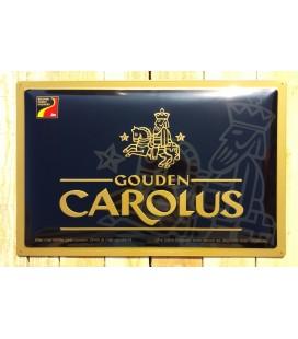 Gouden Carolus Beer-Sign in Tin-Metal