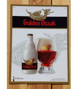 Gulden Draak (white) Beer-Sign in Tin-Metal