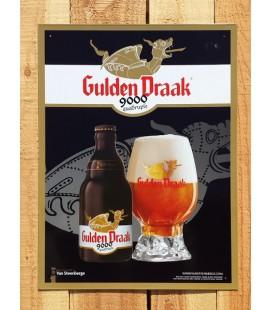 Gulden Draak 9000 Beer-Sign in tin-metal (new)