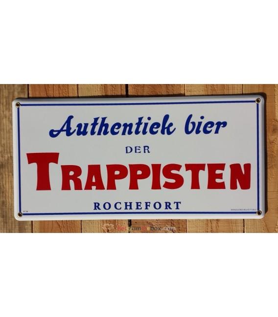 Authentiek bier der Trappisten Rochefort emaille beer-sign