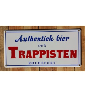 Authentiek bier der Trappisten Rochefort emaille beer-sign
