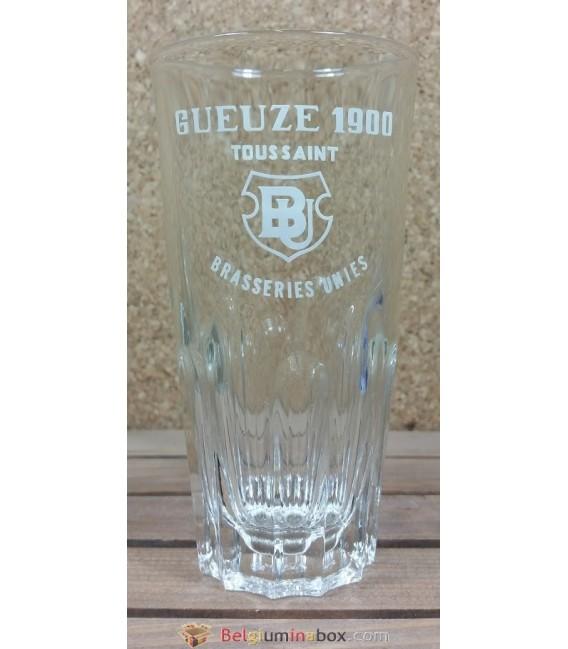 Brasseries Unies Toussaint Gueuze 1900 Vintage Glass ( Deep Ribs ) 25 cl
