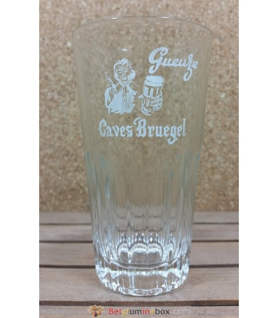 De Neve Gueuze Caves Bruegel ( White label ) Vintage Glass 25 cl