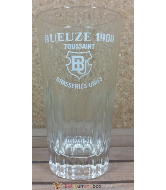 Brasseries Unies toussaint Gueuze 1900 Vintage Glass 33 cl