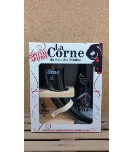 La Corne 'Black' Giftbox with (horn) Glass