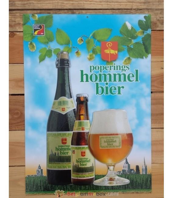 Poperings Hommelbier beer-sign in cardboard
