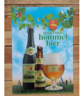 Poperings Hommelbier beer-sign in cardboard